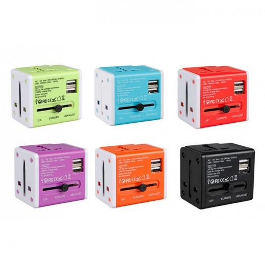 Colorful Universal Travel Adapter